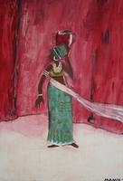 Frau mit Krug aus Afrika