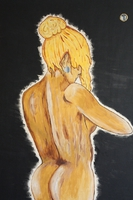 Nackte Frau mit Spiegel