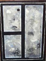 Silbernes abstraktes Gemälde