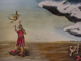 Mädchen mit Hase; aus der Serie: Gut & Böse