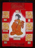 Frau im Kimono