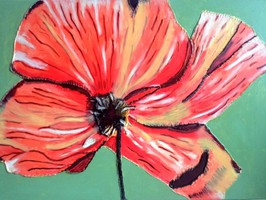 rote große Blume
