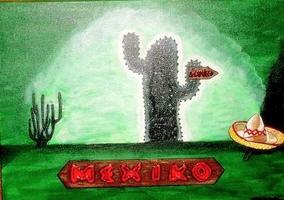 Kaktus mit Sombrero