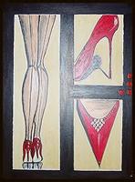 Frauenbeine mit Stilettos